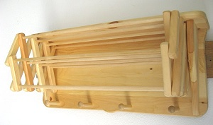 Wooden Clothes Drying Rack - Wall Rack - 18 ft.