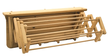 Wooden Clothes Drying Rack - Wall Rack - 18 ft