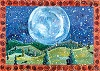 Winter Moon Recycled Paper Card