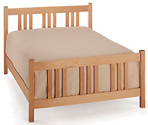 Handcrafted Arts & Crafts Maple Platform Bed - Boxspring Option