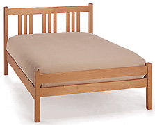 Handcrafted Arts & Crafts Maple Platform Bed - Short Footboard Option