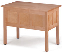 Pacific Rim Maple Writing Desk - Back View