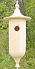 Natural Unfinished Hanging Cylinder Birdhouse
